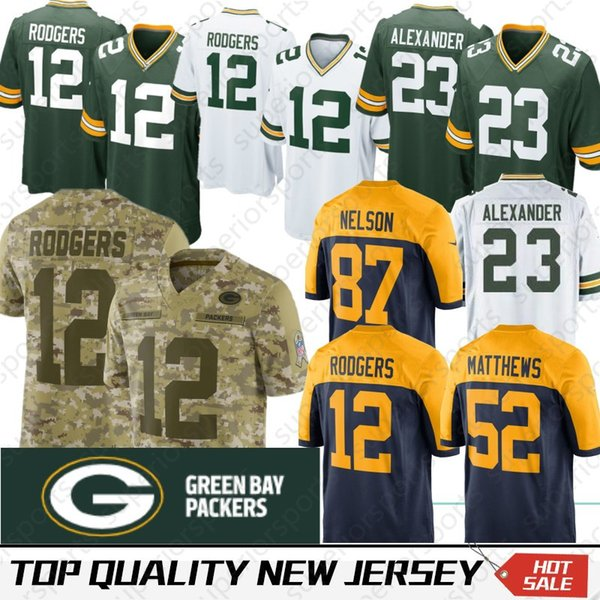 newest collection b928a e86e0 2019 Stitched Green Bays 17 Davante Adams Packers Jersey 12 Aaron Rodgers  23 Jaire Alexander Favre 52 Matthews 80 Graham 21 Ha Clinton Dix King From  ...