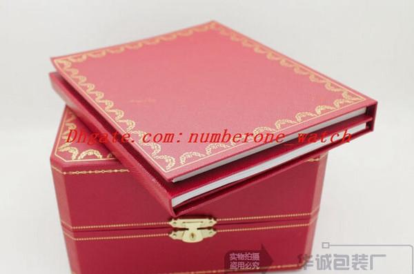 Prezzo più basso Spedizione gratuita Luxury Watch Mens Watch Box Originale interno esterno Womans Orologi Scatole da uomo Orologio da polso Red Box Libretto di carte