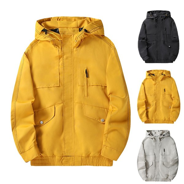Herren Jacken Wasserdicht 2019 Autumn Jaycosin Printed Hooded Coats Männer Frauen Oberbekleidung Splice beiläufige Marken Männlich Kleidung Hot 909