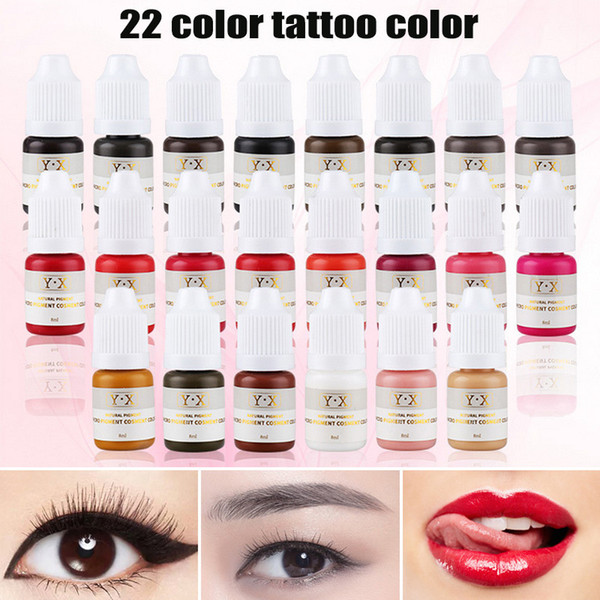 Acheter Ligne De Maquillage Semi Permanent De Lèvres De Eyerbow De Maquillage De 22 Couleurs Encres De Couleur De Tatouage De Sourcil De Microblading