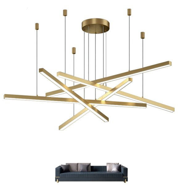 New Modern Led Chandelier Lighting Brief Gold Home Decoration Hanglamp Living Dining Room Light Fixtures Kitchen Island Lamp Contemporary Ceiling