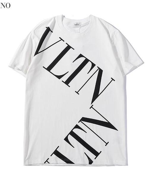 Acheter 2019 Ss Grande Lettre Imprimer été Coton Hommes Femmes T Shirts Couple Occasionnel Tees Marée Street Style Wear Noir Blanc Taille S Xxl De