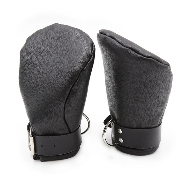 Camatech Pu Leather Padded Mittens Soft Puppy Mitts Hand s Bondage Bdsm Dog Palm Fist Gloves Restraint Aduld Game For Couple Y190716