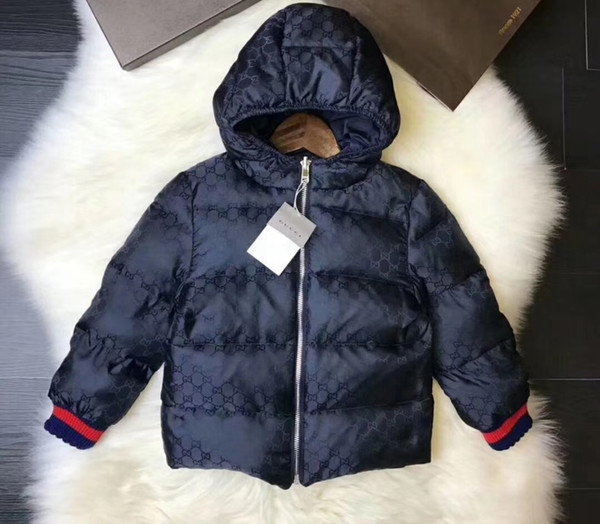 Teenager Fashion Winter Reversible Down Coats Big Kids Boy Girl Hooded Casual Outwear Children Retail Clothes Sizes 90 150 Kids Packable Down Jacket