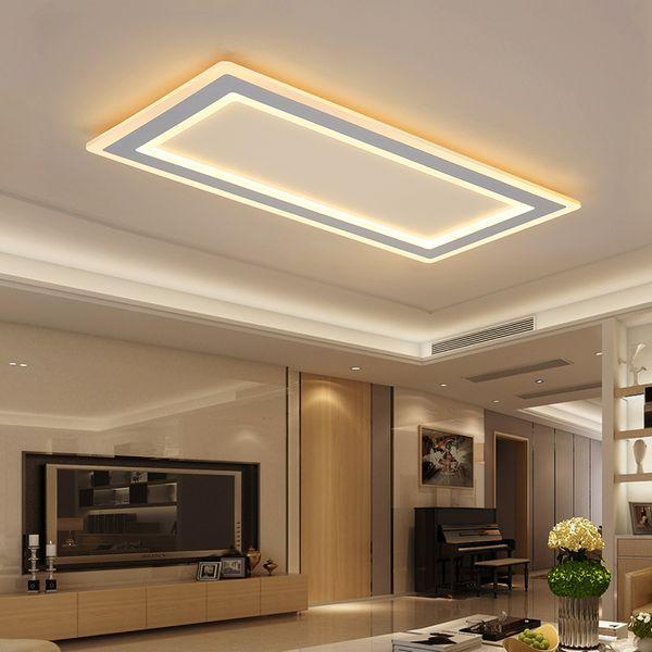 Modern Minimalist Dikdörtgen Tavan Işıkları Işık cilası led oturma odası ışık fikstür için plafondlamp plafonnier led lambalar