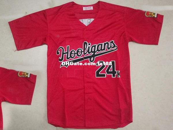 Cheap Custom Bruno Mars 24K Baseball Jersey Shirt Red Stitched Add Any Name Number Men Women Youth XS-5XL