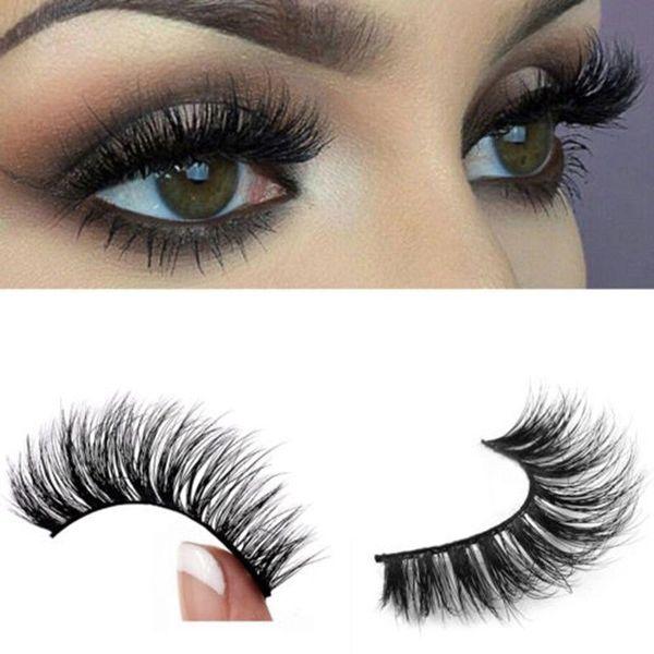 Top individual 3D 100% Black Soft Long Natural Thick eyelash extension Mink Eye Lashes False Eyelashes for makeup