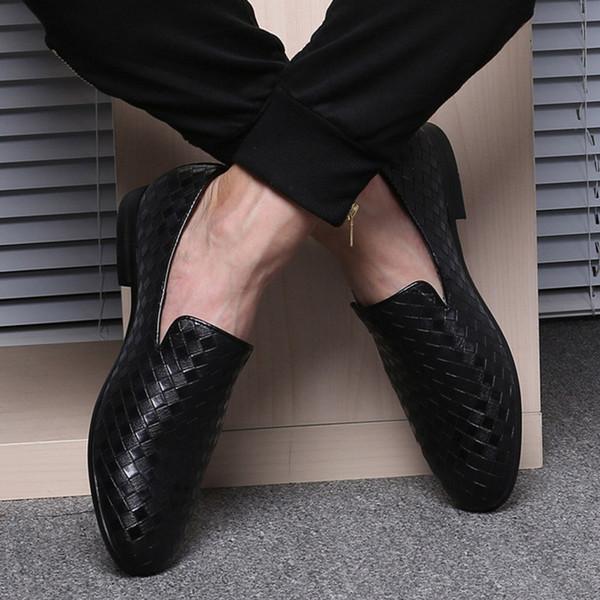 Schwarzer Lederner Loafer