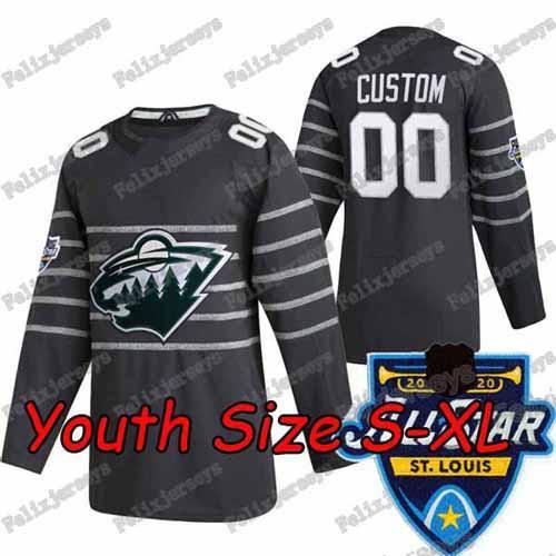 2020 All Star Koyu Gri Gençlik: Boyut S-XL
