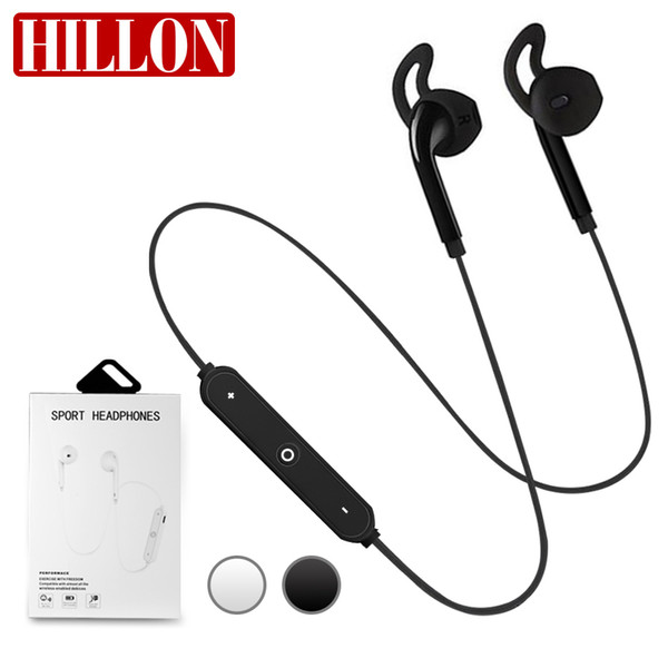 Para S6 Wireless Bluetooth Auriculares Estéreo Teléfono Celular con Micrófono en Oído Auriculares Estéreo Sonido Auriculares para Deportes al Aire Libre Corriendo en Caja Minorista