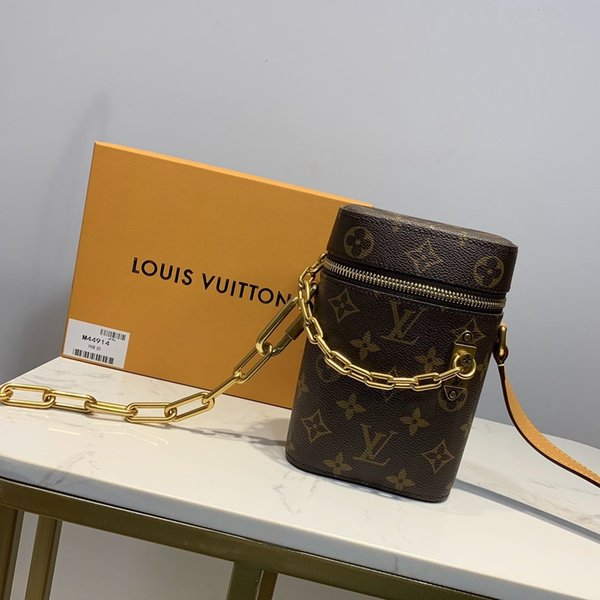 лучший qualtiy Crossbody сумки кожаный бумажник мода кожаный цепи мобильный телефон коробка сцепления Pochette Felicie цепи плеча открытый мешок M44914