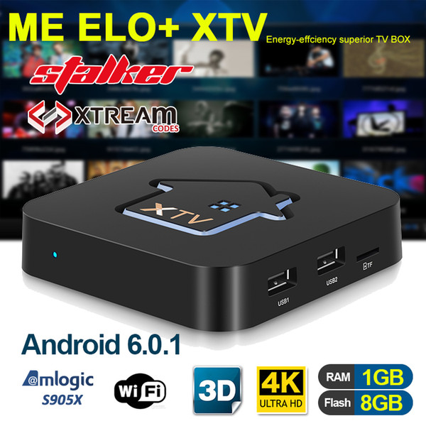 top popular XTV IPTV Box Android 6.0 most stable support Stalker XTREAM S905X 1GB 8GB tv box with 10 days iptv subscription suit MAG 2019