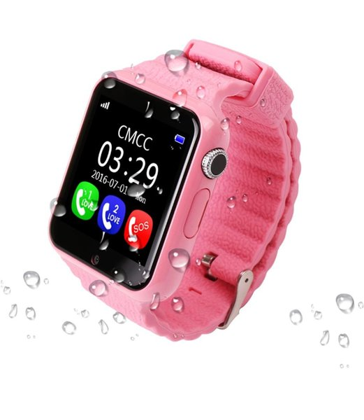 GPS Smart Watch V7K kid waterproof Smart baby watch with camera SOS Call Location Device Tracker Anti-Lost Monitor PK Q90