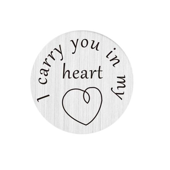 steel skids Wholesale 22mm stainless steel i carry you in my heart floating plates for glass lockets