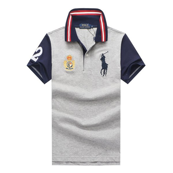18ss 2018 New Fashion Style Men Polo Shirt Contrast Color Collar Short Sleeve Fitness Solid Male Polo Top Clothes Custom