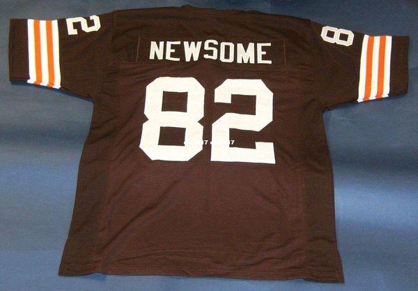 Barato retro # 85 OZZIE NEWSOME CUSTOM MITCHELL NESS Jersey para hombre Costura de gama alta Tamaño S-5XL Fútbol Jerseys College NCAA