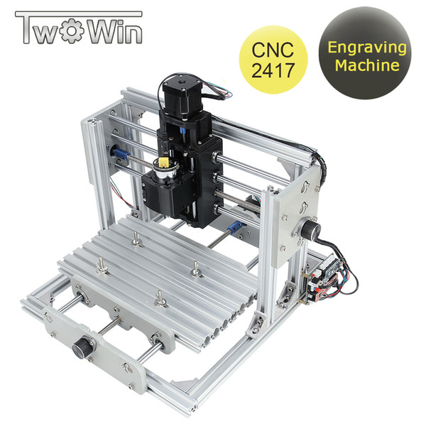 CNC 2417 Laser Engraving Machine GRBL Control DIY Mini Wood Router 3 Axis Aluminum Metal Milling Machine with 775 motor