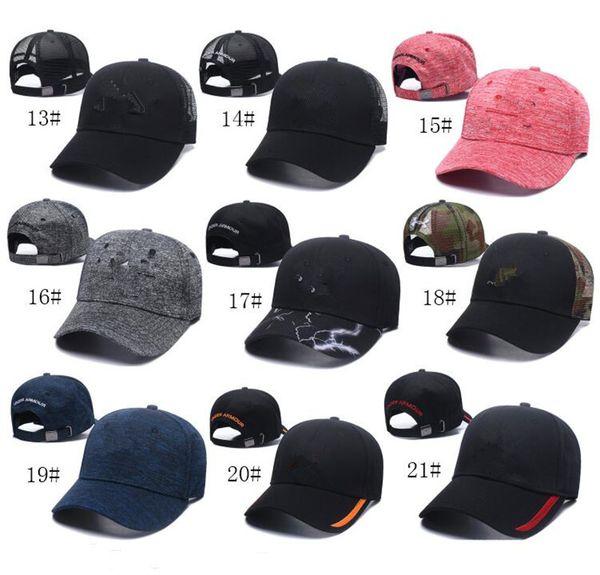 51 couleurs été UA casquette de baseball ball casquette hommes femmes casquettes visor snapbacks sous sport chapeau hip-hop réglable bonnet chapeaux Sunhat HOT2019
