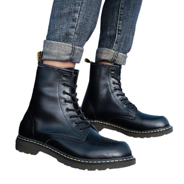 marca famosa comprar online diseño atemporal Compre Xiniu Moda Hombre Inglaterra Vintage Martin Botas Botas De ...
