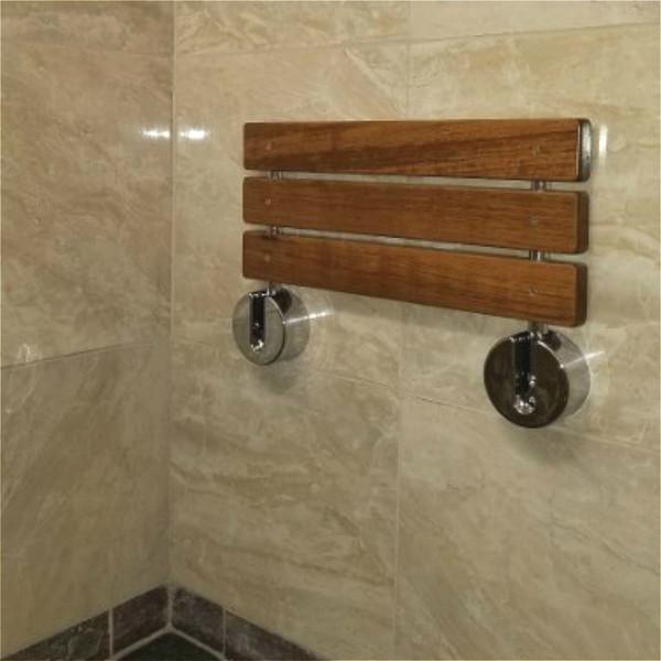 Phenomenal 2019 20 Modern Solid Teak Wood Folding Shower Seat Bench Brushed Wall Mounted Shower Bench Bathtub Seat Fold Down Spa Bench From Homedecor1 241 2 Frankydiablos Diy Chair Ideas Frankydiabloscom