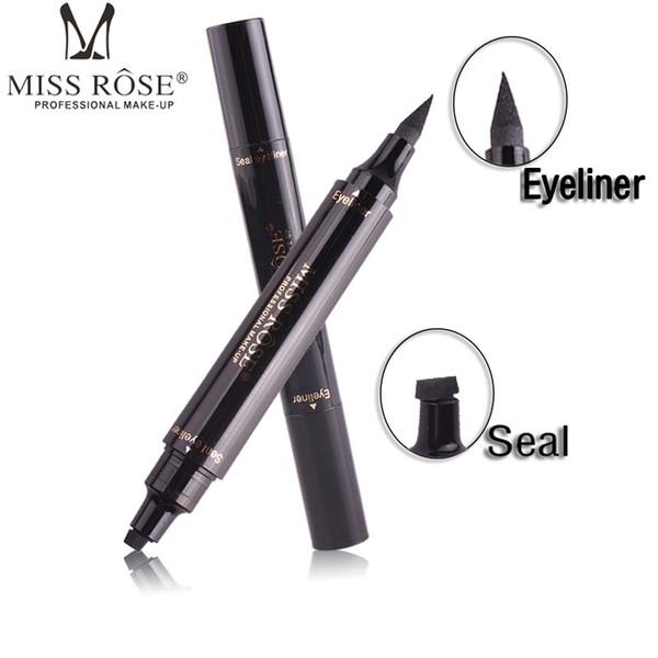 Miss Rose Winged Eyeliner Stamp Dual Ended Liquid Eye Liner Pen Waterproof Smudge Proof Long Lasting Eyeliner Pencil Vamp Style Uk 2019 From