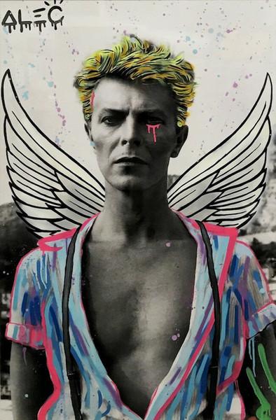 Alec Монополия картина маслом на холсте Граффити Арт Декор стены David Bowie большое изображение для гостиной 190921
