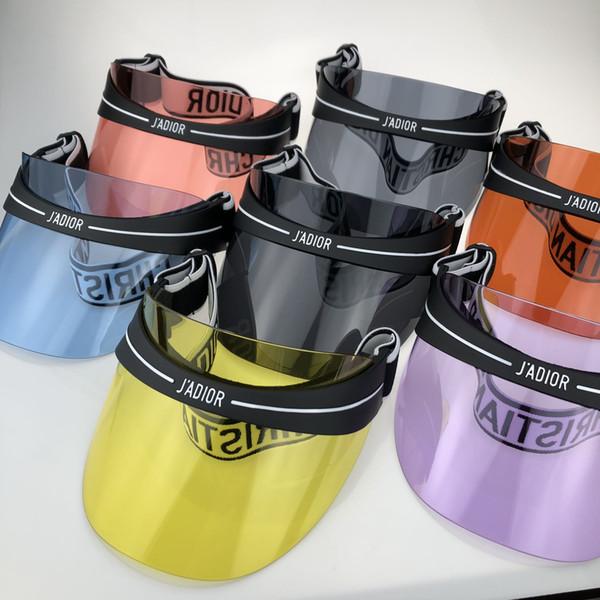 Son tasarım marka tasarım güneş şapka moda güneş gözlüğü şapka moda uv şeffaf PC şapka boyutu 56-62 cm