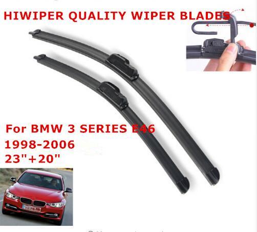 "Wiper Blades for BMW 3 SERIES E46 (1998-2006) 1set 23""+20"" Windscreen Wiper Frameless Soft windshield wiper Blades"
