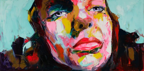 Modern Portrait 100% Pure Handworked Oil Painting Francoise Nielly Palette Knife Impression Home Artworks Concave and Convex Texture Face249