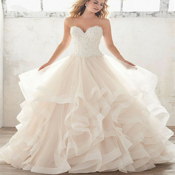 Country Bohemian Wedding Dresses Sexy Sweetheart Lace Appliques Boho Bridal Gowns Sexy Backless Sweep Train A Line Wedding Dress