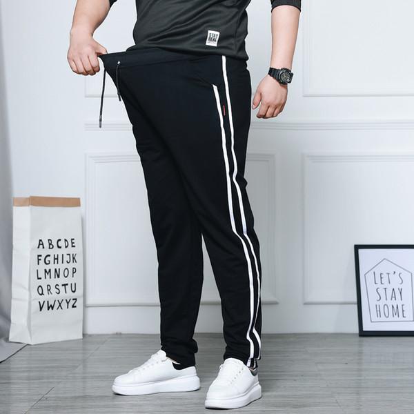 Spring Men's Casual Straight Pants Super Loose Sweatpants Men Joggers Side Stripe Trousers Tracksuit Bottoms Harem Track Pants
