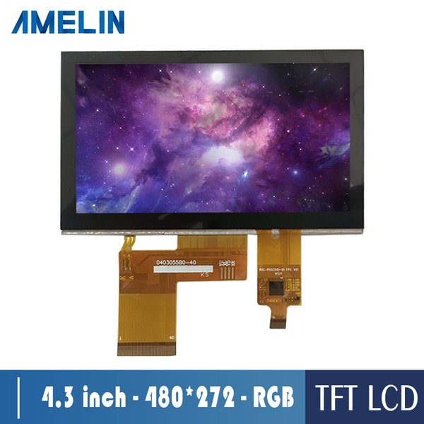 AML043056B0 4.3 inch 480*272 tft lcd module screen with RGB interface display and CTP touch panel