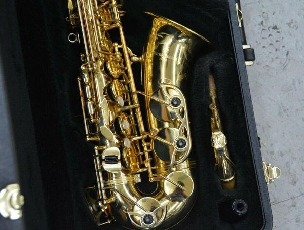 YANAGISAWA A-901 Saxophone Alto Haute Qualité Or Laque Sax Instruments de Musique avec Embouchure Accessoires Accessoires Livraison Gratuite