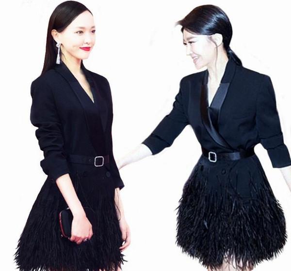 All'ingrosso 2015 donne di disegno di autunno nuovo modo Jacket Gira-giù solida del collare del cappotto cintura Slim lunga piena parti superiori delle donne Nuovo arrivato Y0225