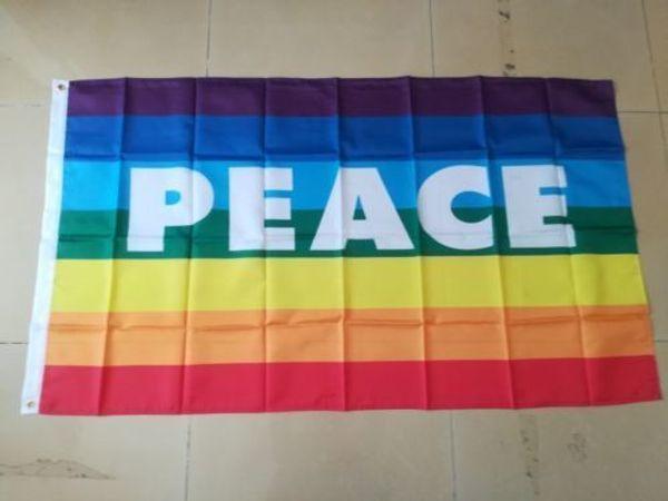 Arc-en-drapeau de la paix drapeau 150cm * 90cm 3ft * 5ft drapeau décoration décoration cadeaux jardin maison