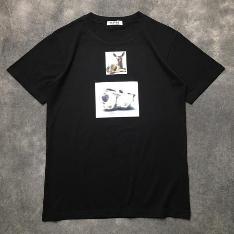 18ss designer de luxe de mode designer Paris Fan Made T-Shirt Justin Bieber 100% Coton T Shirts Streetwear Punk Rock Star Ghost Tee Tshirt