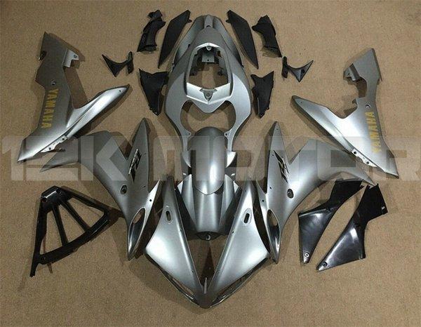 Новые ABS для мотоциклов обтекатели комплекты Fit для YAMAHA YZF-R1 2004 2005 2006 R1 кузовного обтекателя Free изготовленный на заказ Silver Matte