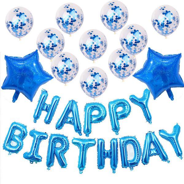 Boy Girl Birthday Foil Letter Cartoon Balloons Sets For Children Baby Birthday Party Decoratio