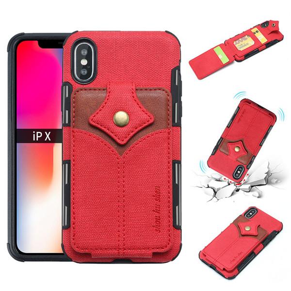 Nueva llegada de moda de lujo caja del teléfono tarjeta de visita ranura para iphone x xr xs xsmax s8 nota 8 s10 diseñador del caso