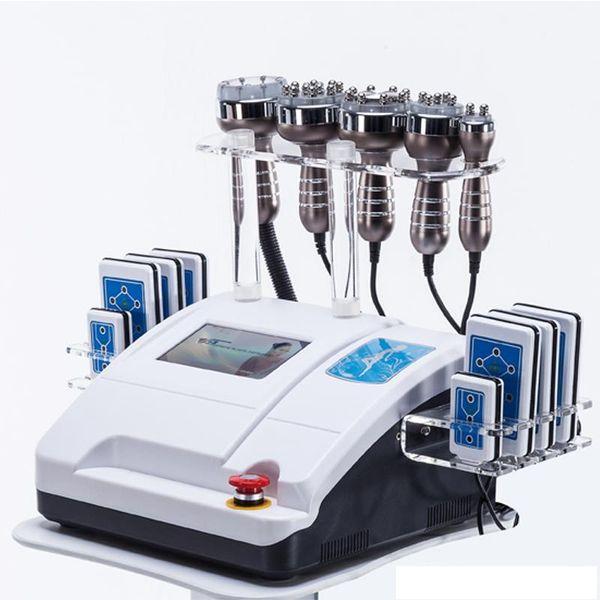 Ultraschallkavitation 6in1 40K zweipolige mehrpolige Rf-Vakuumfettverbrennung, die Maschine Lipo Laser-Körper formt Gewichtsverlust-Schönheits-Ausrüstung abnimmt