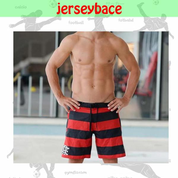 top popular NEW 19 20 BERMUDA Flamengo Summer shorts Men's Beach black red fashion pants sportswear running football training Male Sweat pants 2019