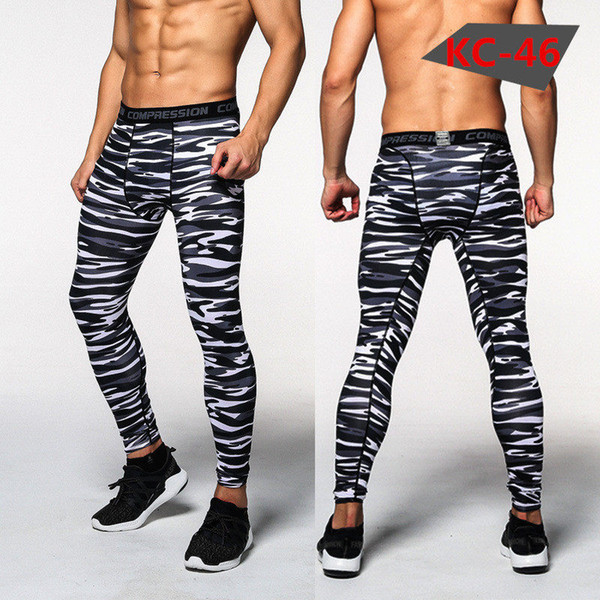 3D printing Camouflage Pants Men Fitness hiking pants Compression Male Trousers Bodybuilding Tights Leggings cycling