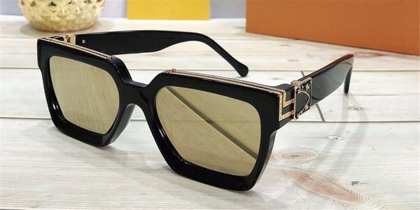 black golden lens