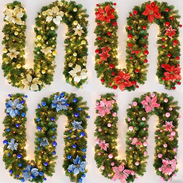 DIY Christmas Decorations Rattan Bar Tops Ribbon Christmas Home Decoration Garland Christmas Tree Ornaments 2.7m FA2866