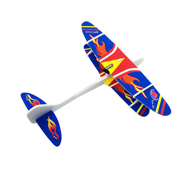 Diy Hand Throw Flying Airplanes Capacitor Electric Hand Launch Throwing Glider Aircraft Inertial Foam Toy Plane Model Outdoor Educational To