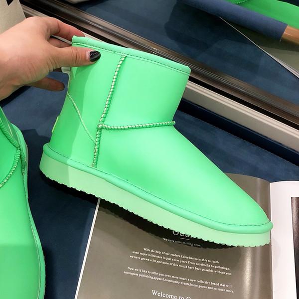 2019 nueva de cuero de alta calidad de lujo nieve Duantong botas botas mujer botas de piel de moda de invierno y zapatos de invierno más los zapatos acolchados de terciopelo 35-