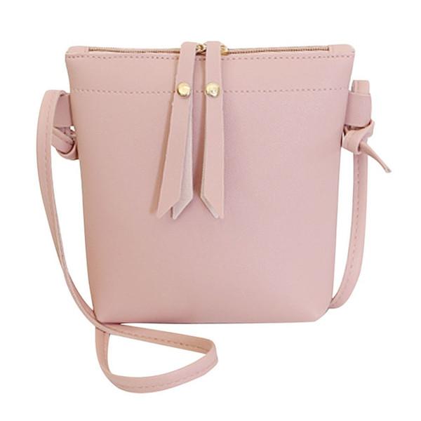 Cheap Fashion For Women Solid zipper PU Shoulder Bag Crossbody Bag Messenger Phone Coin Bag Small Korean Style Bolsas Feminina Saco