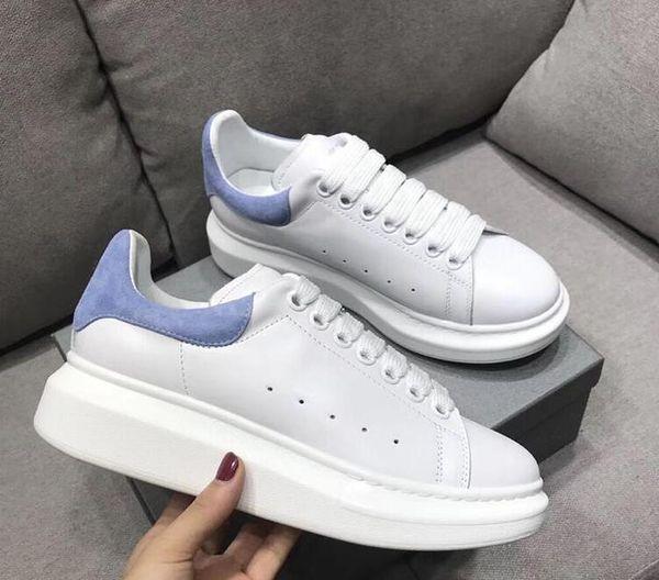 2019 Tasarımcı Ayakkabı eğitmenler Yansıtıcı 3 M beyaz Deri Platformu Sneakers Bayan Erkek Düz Rahat Parti Düğün Ayakkabı Süet Spor Sneakers