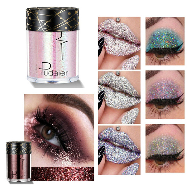 fashion women sequins eye shadow tattoo glitter shimmer makeup beauty tools