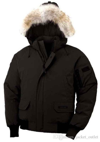 Fashion Winter Down Hooded Bomber Parka Jackets Green Zippers Jacket Men Warm Canada Coat Outdoor Coats Cheap Sale